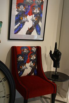 This is the wonderful chair that Chair Candy created with the image of Under My Red Umbrella painting on it. It sold, but they are making another one!  http://chaircandy.com.au/blog/a-tasmanian-artist-to-make-you-smile