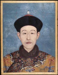 Portrait de l'empereur Qianlong daté de 1737 Encre de Chine et encre de couleur. (C) RMN-Grand Palais (musée Guimet, Paris) / Thierry Ollivier