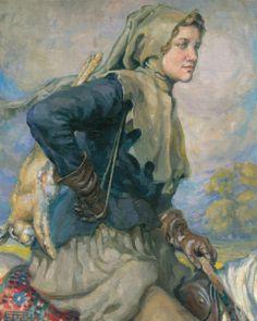 """""""Retour de la chasse,"""" Hilda Rix Nicholas, 1911."""