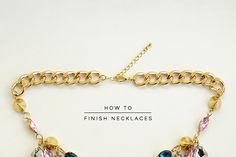 @Brooke Aziz | Bookmarked: How to finish necklaces professionally.