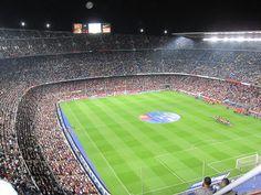 Estadio de Camp Nou en Barcelona, España