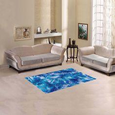 "Blue Nautical Design Fishnet Print Rug Area Rug 2'7""x 1'8''"