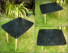 """Petit noire"" – retro dohányzóasztal / mid-century coffe table Coffe Table, Mosaic Projects, Mosaic Designs, Mid Century, Retro, Furniture, Home Decor, Decoration Home, Room Decor"