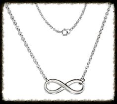 """This Adjustable 16""""/18"""" Infinity necklace is made of sterling silver. O style chain, with lobster claw latch"""