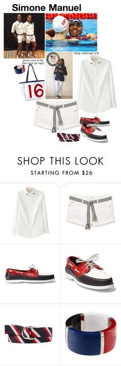 """""""Simone Manuel"""" by rivlyb ❤ liked on Polyvore featuring MANGO, Ralph Lauren and Dolce&Gabbana"""