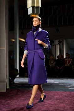 I just fell in love.  Check out all the pics from Tod's runway on Sartorialist.  The shoes are the BEST!