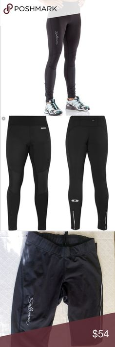 Solomon Actilite Trail Running Leggings Hate to get rid of these, but just too small on me now. I used them one winter alternating with another pair. Excellent quality and condition, tiny hole in back of knee. Salomon Pants