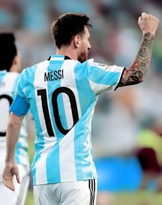 Lionel Messi celebrates after scoring against Venezuela during the Copa America Centenario football quarterfinal match in Foxborough, Massachusetts, United States, on June 18, 2016.