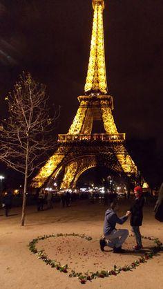 Pedido de casamento na torre Eiffel