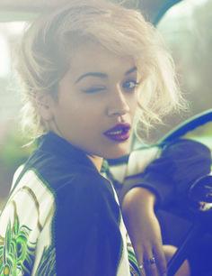Rita Ora #lipstick #plum #makeup