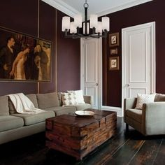 Benjamin Moore paint color of Vintage Wine The color for my living room Decor, Home, Room Colors, House Design, Furniture, Plum Walls, Interior Design, Room, Room Decor