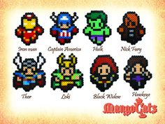 Avengers bead sprite by MangoCats on Etsy, $5.50