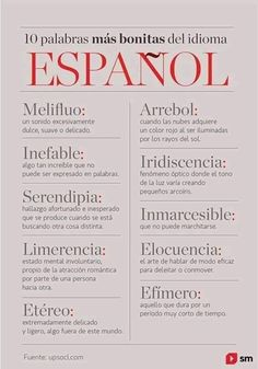 Image uploaded by María José. Find images and videos about spanish, words and frases español on We Heart It - the app to get lost in what you love. The Words, Weird Words, More Than Words, Cool Words, Spanish Vocabulary, Spanish Language Learning, Spanish Words, Spanish Quotes, Pretty Words