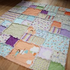 Dress Up Days Baby Rag Quilt / Childs Rag by AngelasExpressions