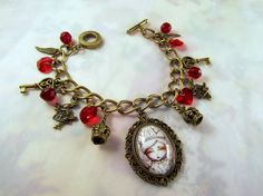White Queen Alice In Wonderland Charm bracelet by DecadentCandy, £12.00