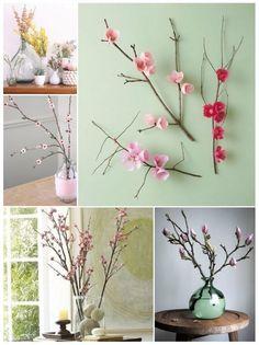 decorar con ramas secas fácilmente