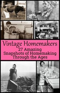 Vintage Homemakers {27 amazing snapshots of homemaking through the ages} | Ever wonder what a homemaker's life was like before? Some inventors found new-fangled appliances so exciting, they combined functions quite oddly! Or, what would a homemaker in the city do when she didn't have time to take the baby outside for fresh air? This is an absolutely fascinating scroll through 27 shots of homemaking through the ages. Which is your favorite?