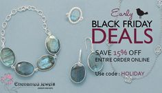 15% off Black Friday special at Enchanted-Jewels.com