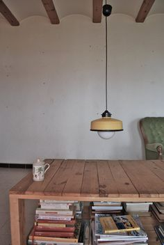 Hanging / pendant / ceiling lamp light pastel peach / by iLiui