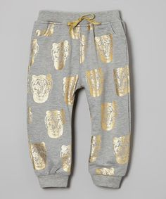 Loving this Gray Tiger Harem Pants - Infant, Toddler & Kids on #zulily! #zulilyfinds