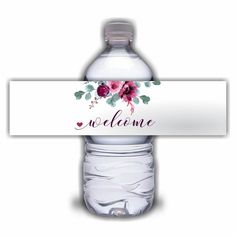 Add a little flair to floral wedding welcome gable boxes with these personalized water bottle labels! Wedding Hotel Bags, Wedding Tags, Mini Bottles, Water Bottles, Personalized Water Bottle Labels, Key Bottle Opener, Alcohol Gifts, Waterproof Stickers, Wedding Favors For Guests