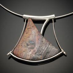 Necklace by Creek Reflections, handmade jewelry by Bruce Hartman and Darlene Hartman in their jewelry studio near Carlisle, Pennsylvania.