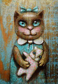 Просмотреть иллюстрацию кукла IV из сообщества русскоязычных художников автора Павел Кульша в стилях: Персонажи, нарисованная техниками: Акрил. Cute Cats And Dogs, Animals And Pets, Cats And Kittens, Cat Drawing, Heart Art, Dog Art, Cat Love, Animal Drawings, Illustrators