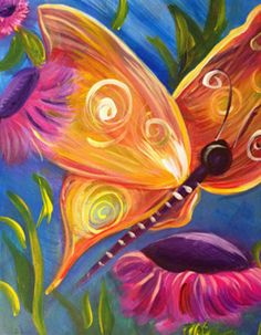 We bring the Best Canvas Painting Ideas for Beginners who has that artist to throw colors canvas art on the sheet portraying the thoughts running into canvas wall art. Painting Lessons, Diy Painting, Art Lessons, Painting & Drawing, Beginner Painting, Butterfly Painting, Butterfly Art, Pixel Art Papillon, Beautiful Butterflies