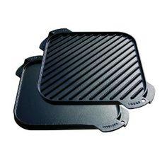 #4: Lodge Logic Single Burner Reversible Grill / Griddle - 10-1/2-by-10-1/2.