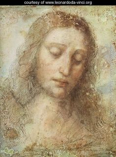 Head of Christ - Leonardo Da Vinci - www.leonardoda-vinci.org