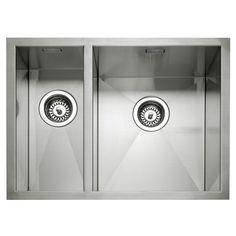 Caple Zero 150 Stainless Steel Inset or Undermount Bowl Kitchen Sink