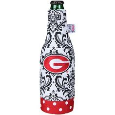 Georgia Bulldogs 12oz. White Wallpaper Canvas Bottle Koozie, christmas list?