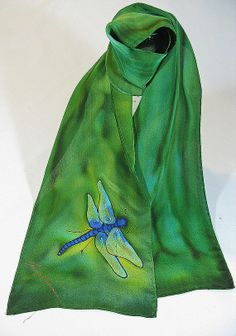 Hey, I found this really awesome Etsy listing at http://www.etsy.com/listing/74461020/green-silk-scarf-dragonfly-silk-scarf