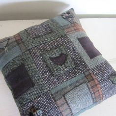 lily button tweed cushion: bird by lily button treasures | notonthehighstreet.com
