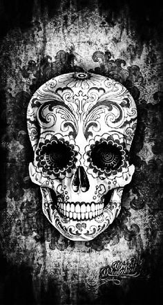 Stained Skull Phone Case for iPhone Tatto Skull, Sugar Skull Tattoos, Sugar Skull Art, Sugar Skulls, Caveira Mexicana Tattoo, Tattoo Caveira, Sugar Skull Wallpaper, Skull Pictures, Skull Art