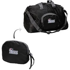 New England Patriots Black Athalon Transformer Duffle Bag