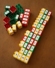 Looks like LEGOS are the manipulative that everyone needs this year! Check out these LEGO ideas. LEGO Letters Have students use re. Kindergarten Literacy, Literacy Activities, Educational Activities, Activities For Kids, Literacy Centers, Reading Centers, Teaching Reading, Teaching Tools, Kids Learning
