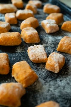 Learn how to make Sweet Potato Gnocchi from scratch. Its easy quick and only requires three ingredients! Serve with brown butter sage sauce for pure comfort in a bowl. Oven Recipes, Sausage Recipes, Turkey Recipes, Easy Dinner Recipes, Cooker Recipes, Great Recipes, Pasta Recipes, Cod Recipes, Broccoli Recipes