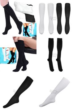 [Visit to Buy] 2017 Comfortable Relief Soft Unisex Miracle Socks Anti-Fatigue Compression Stockings Soothe Tired Legs free shipping #Advertisement