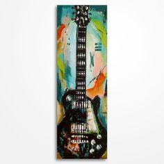 Guitar painting Music Art Gift for a musician Guitar art