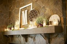mantel wedding reception decorations | Tag: Mantels Love the initial. Maybe some other decorations
