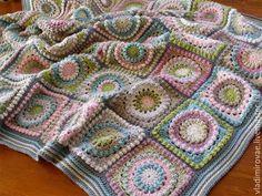 Купить Осенний плед - разноцветный, текстиль для дома, теплый плед, плед вязаный, аксессуары для дома