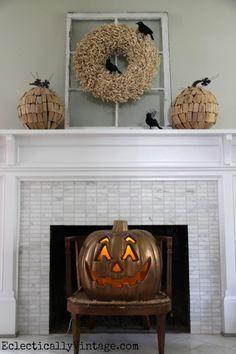 Halloween mantel - a