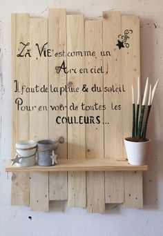 7 deco ideas to have fun with blackboard paint Blackboard Paint, Chalkboard, Memo Writing, Blackboards, Positive Attitude, Diy And Crafts, Sweet Home, Cool Stuff, Inspiration