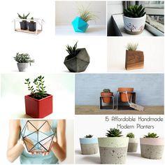 15 Affordable Handmade Modern Planters
