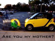 """Are you my mother?"" smart joke :)"