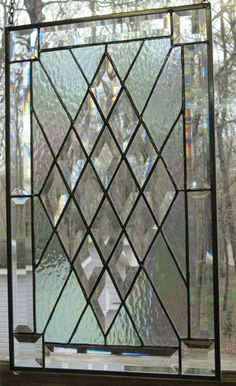 beveled glass window - would love to have one of these!