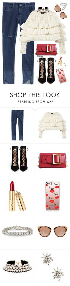 """""""✨"""" by gabyidc ❤ liked on Polyvore featuring Gianvito Rossi, Casetify, Kenneth Jay Lane, Shourouk and Lulu Frost"""