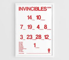 The Invincibles Arsenal 2003 2004 Football team squad typographics print posters Poster On, Poster Prints, Football Team, Arsenal, Squad, Handmade Gifts, Etsy, Image, Products