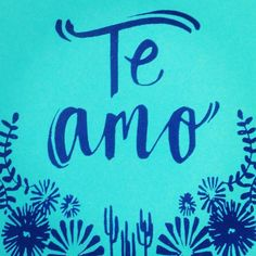 'Te Amo'. I love you from #mexicotomargate via @ZoeMurphyDesign